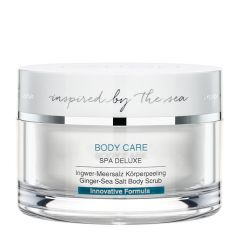 Body scrub with sea salt and ginger