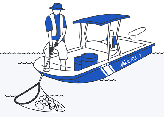 4Ocean Ocean Cleanups with Boats