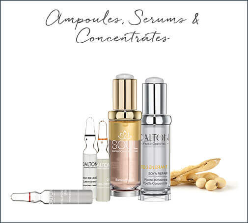 skincare routine ampoules, serums, concentrates