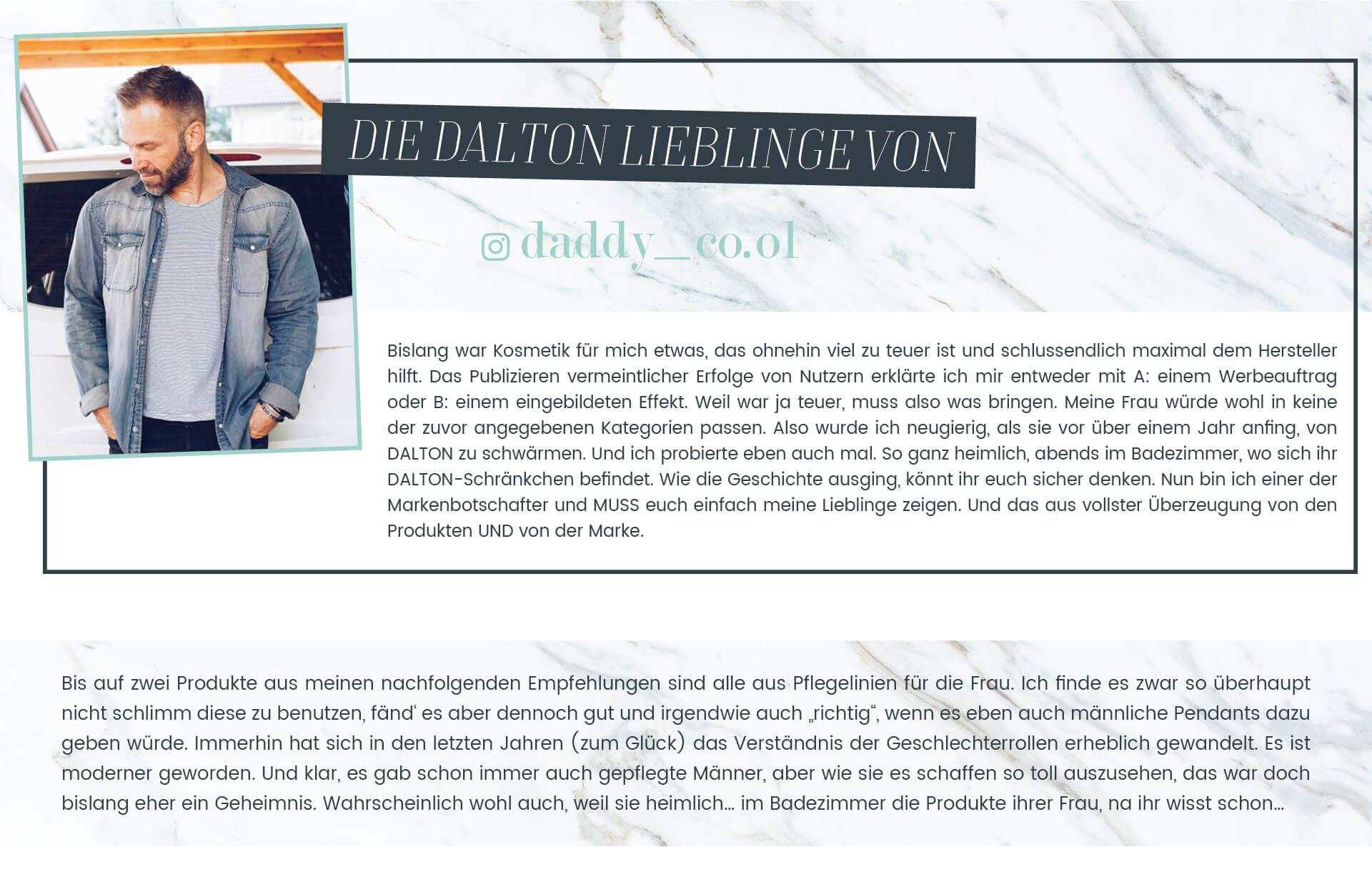 Die DALTON Lieblingsprodukte von daddy_co.ol