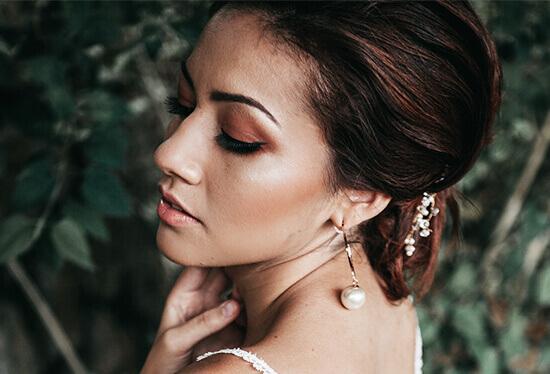 Make-up Look natürliche Augenbrauen Braut
