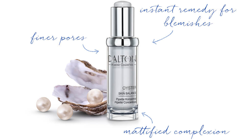 Mattifying Oyster Pipette for skin prone to breakouts