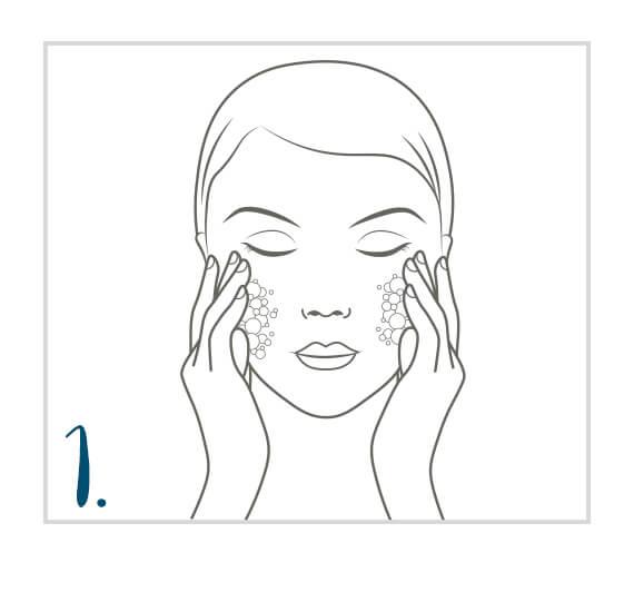 Zuerst Gesicht, Hals und Dekolleté reinigen
