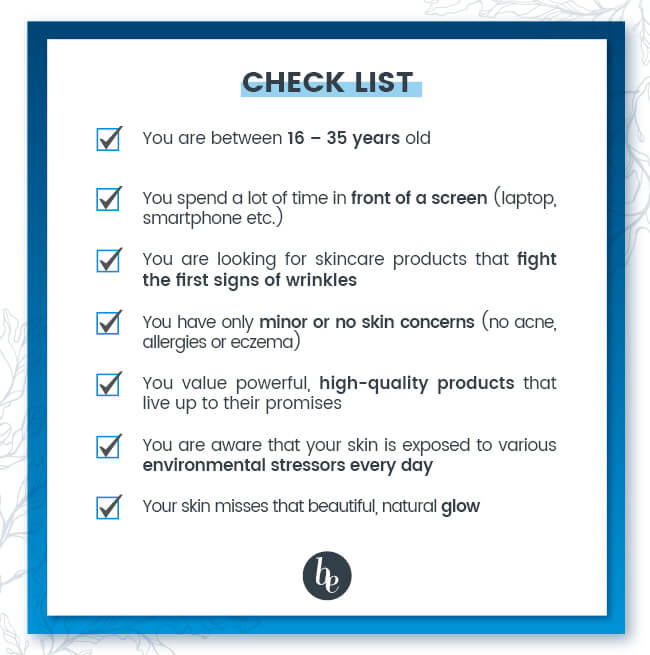 Check list young skin