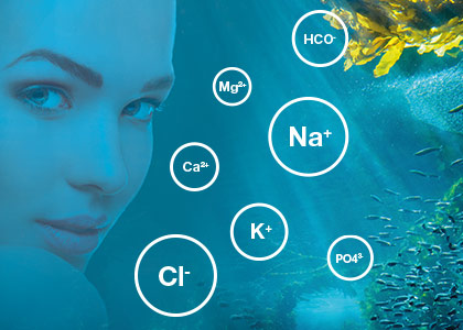 Körperbekannte und hochverträgliche Mischung aus Spurenelementen und Mineralsalzen für die Versorgung der Haut