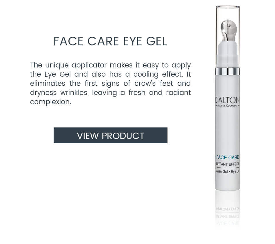 Cooling eye gel to reduce crow's feet and puffy eyes