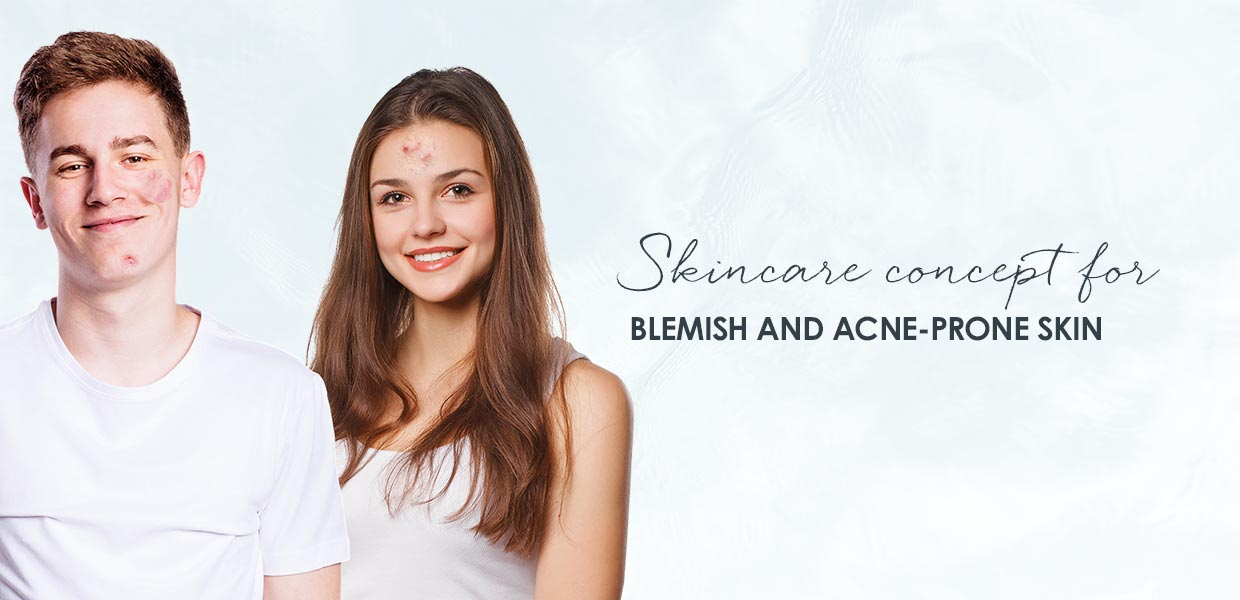 Skincare for dry skin with pimples and oily skin with pimples