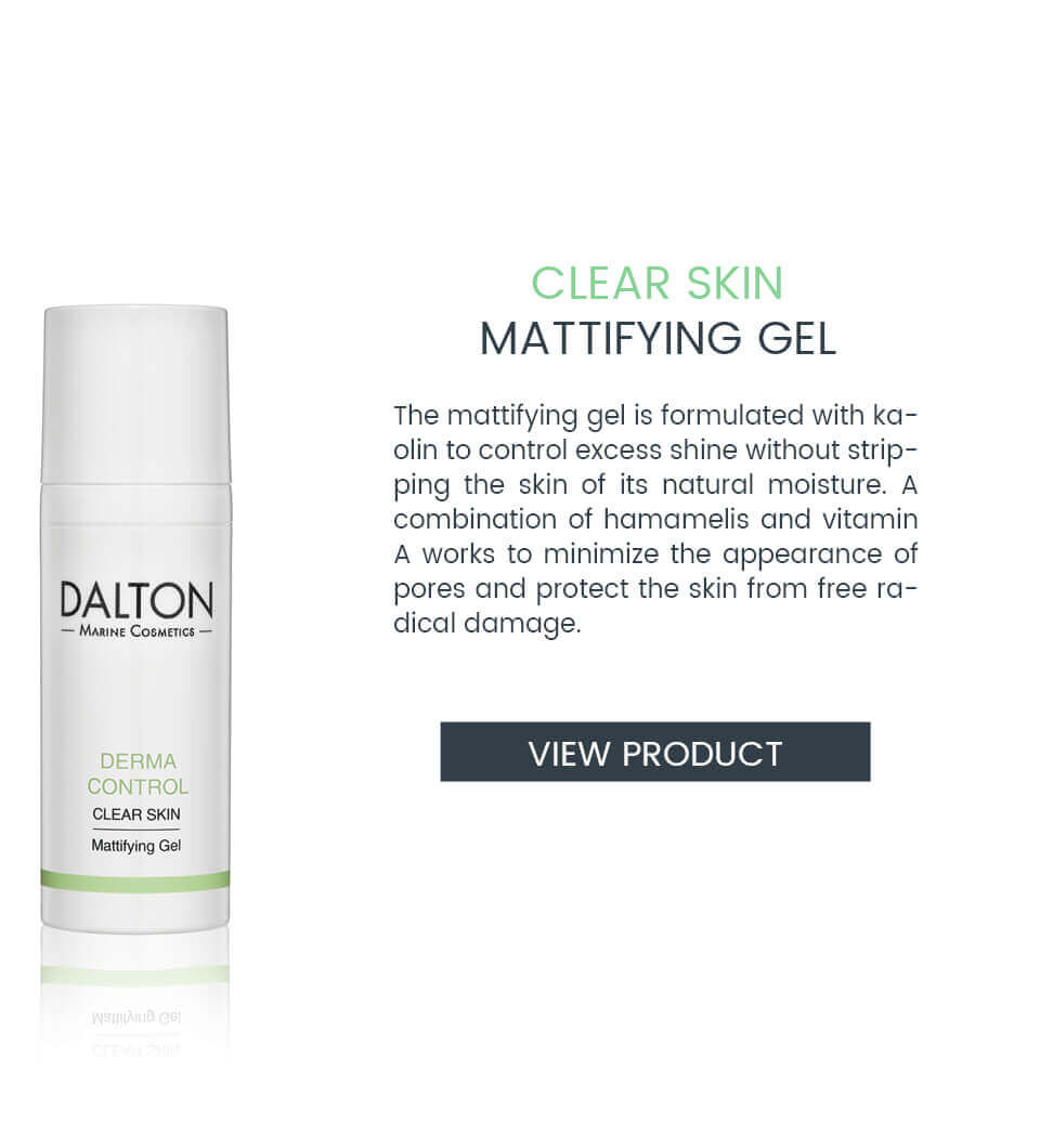 Mattifying gel for oily skin with pimples
