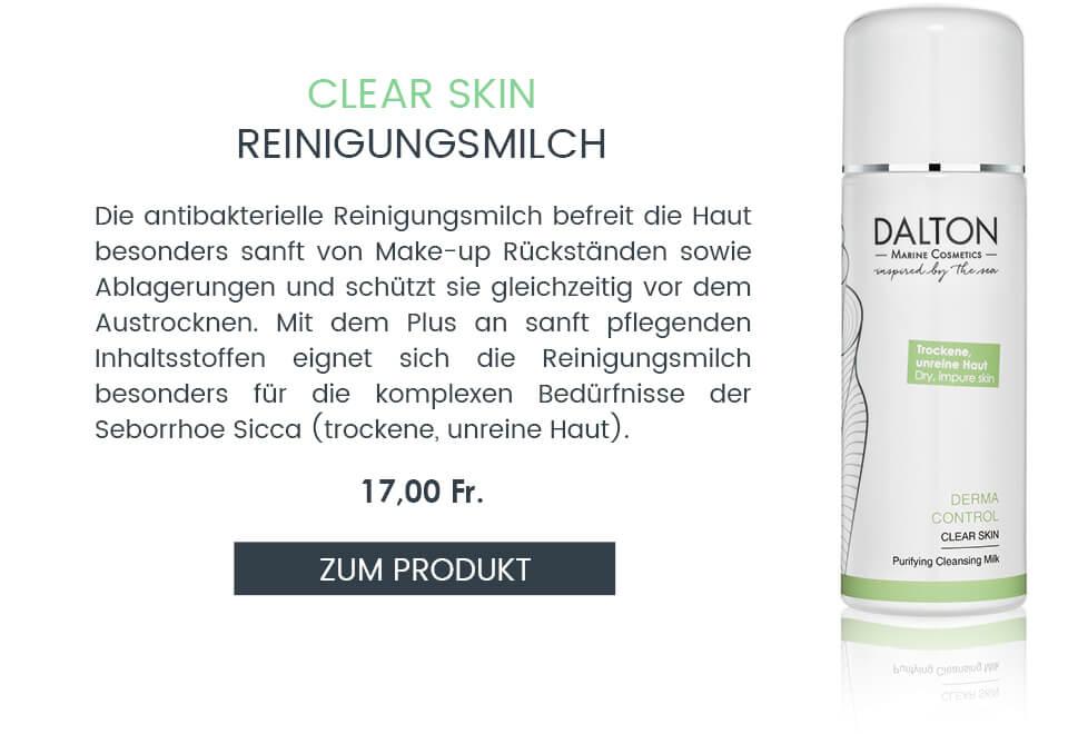 Anti-Pickel Reinigungsmilch für trockene unreine Haut