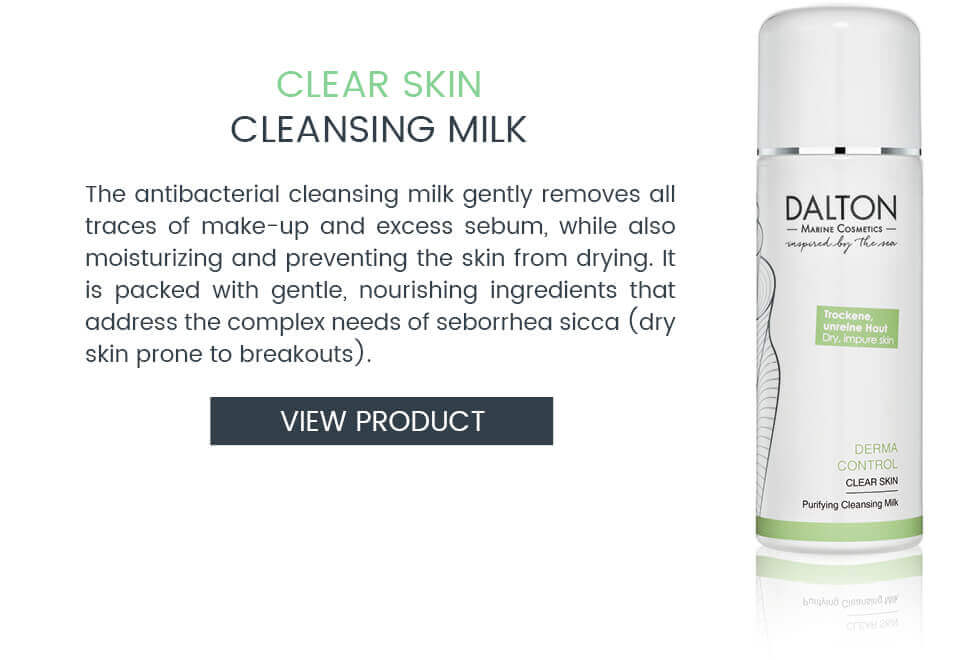 Anti-pimple cleansing milk for dry skin with blemishes