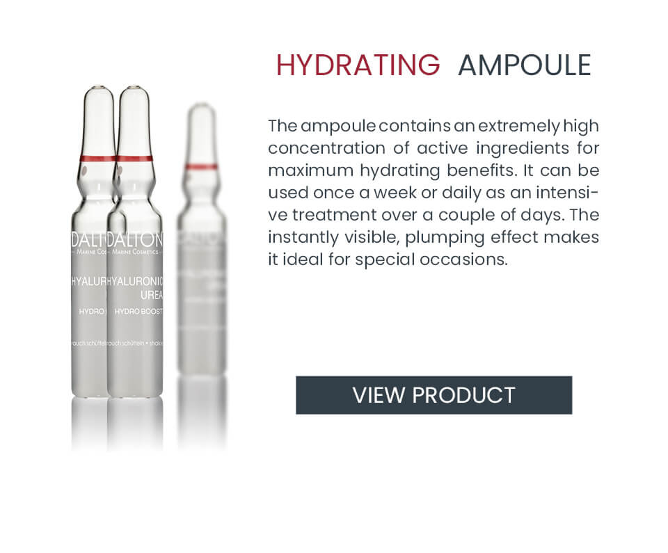 Anti-aging ampoules to hydrate skin