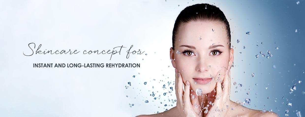 Anti-aging hydrating skincare for dry, dehydrated skin]