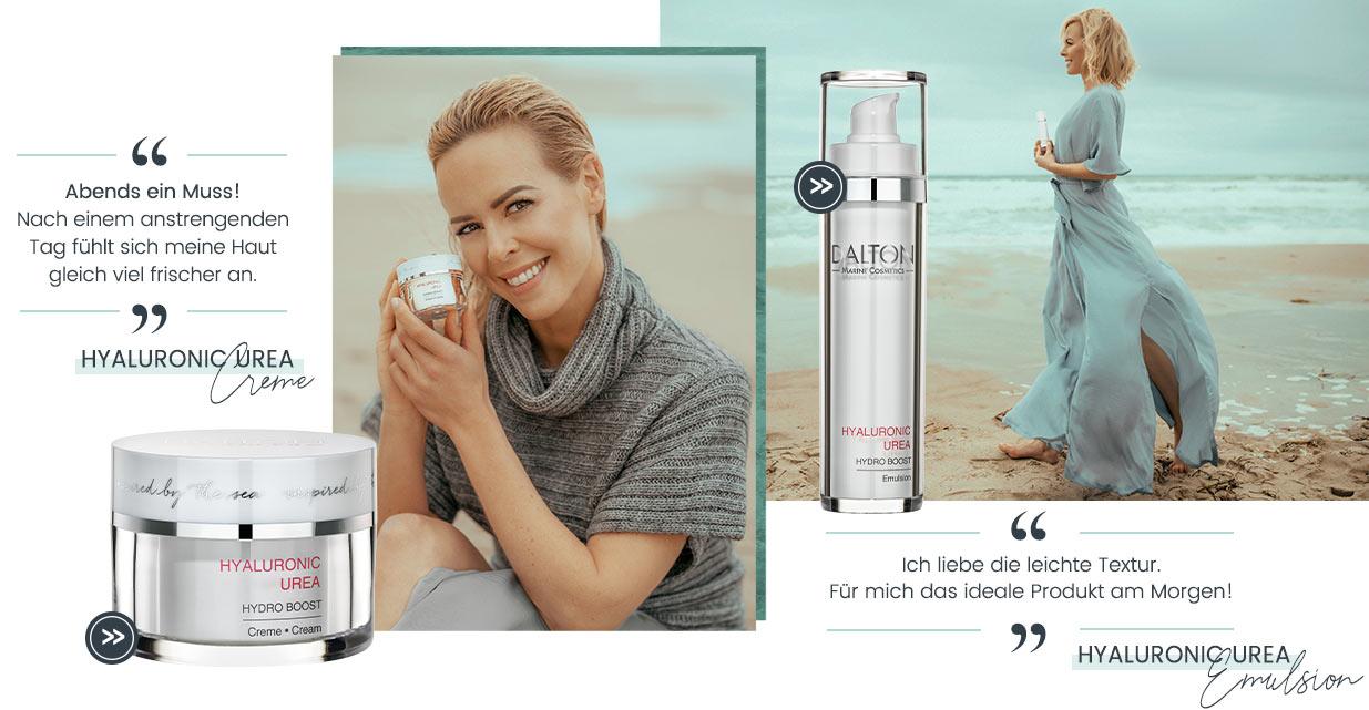 Isabel Edvardsson Markenbotschafterin Hyaluronic Urea Gesichtscreme