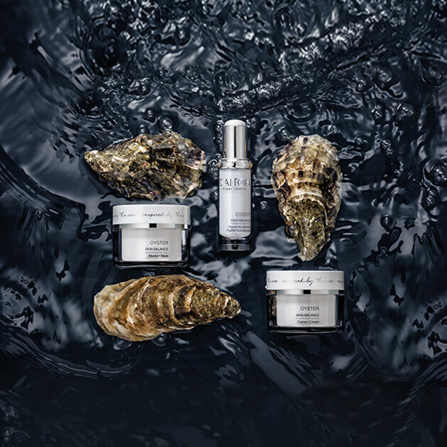 OYSTER products with balancing, mattifying and pore-refining effect