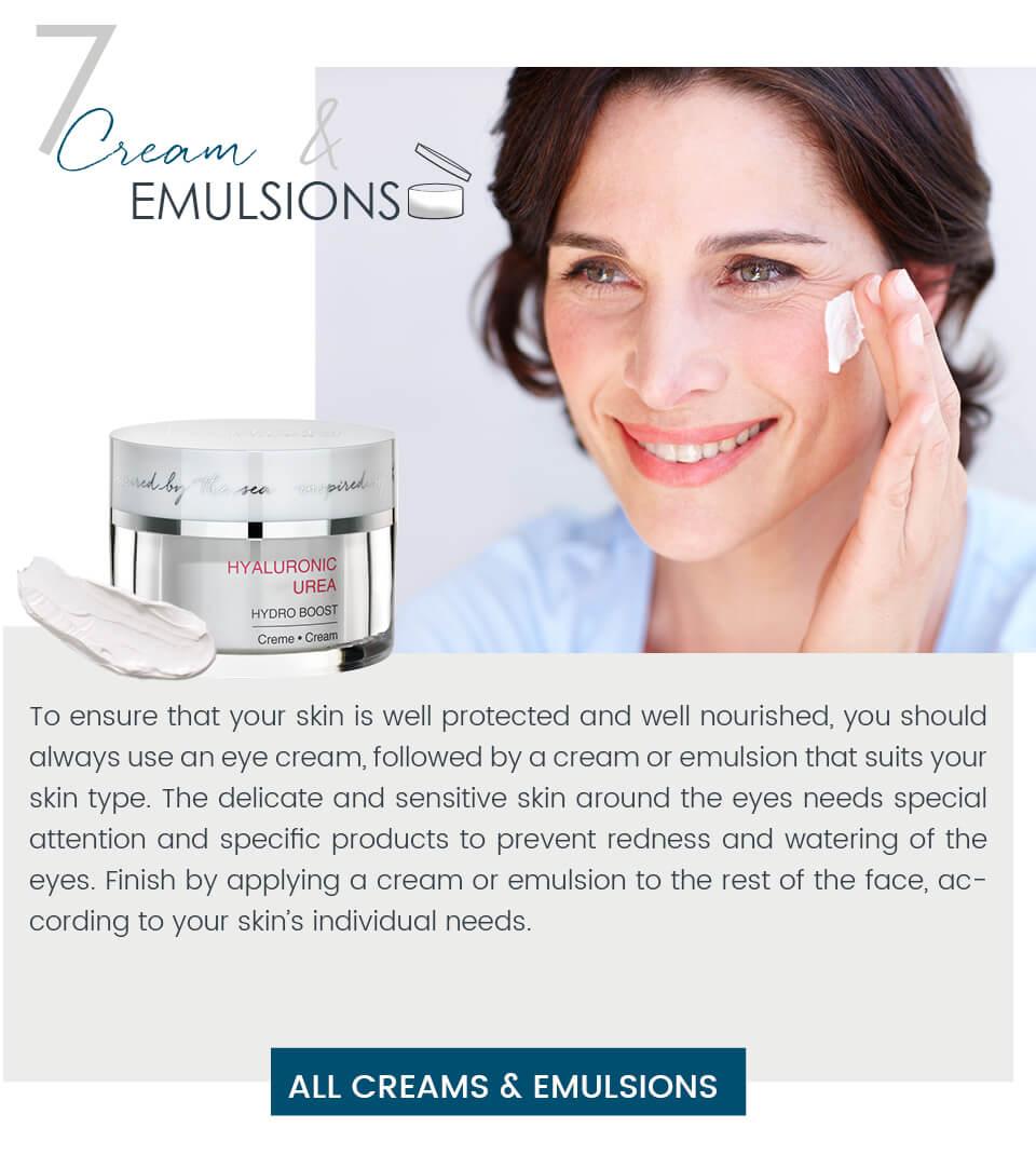 Dalton skincare routine Creams & Emulsions