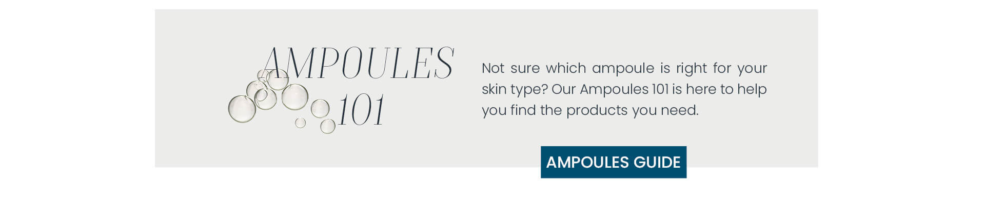 Find the best ampoule for your skin type