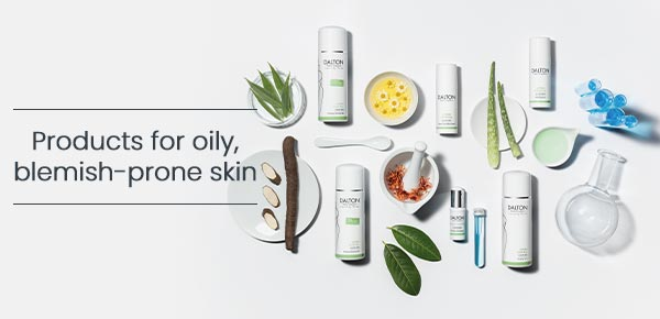 Products for oily acne-prone skin