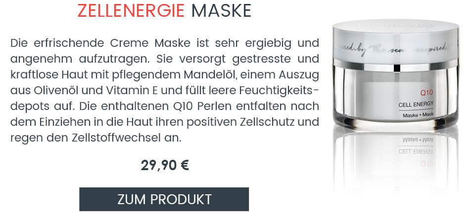 Reichhaltige Gesichtsmaske mit Q10 für fahle Haut