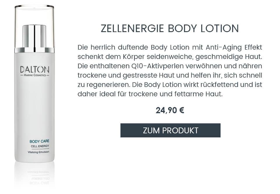 Anti-Aging Bodylotion mit Q10 für fettarme Haut