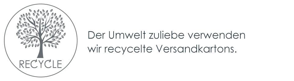 Der Umwelt zuliebe verwenden wir recycelte Versandkartons