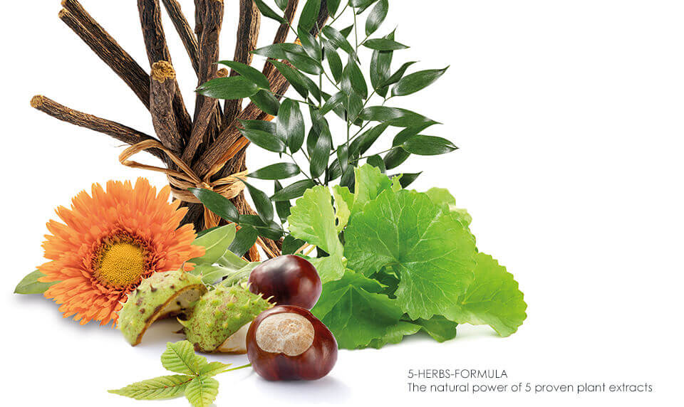 5-Herbs-Extract reduces redness