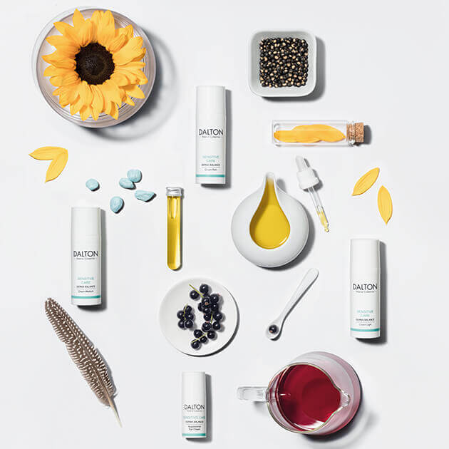 Face care products for sensitive skin