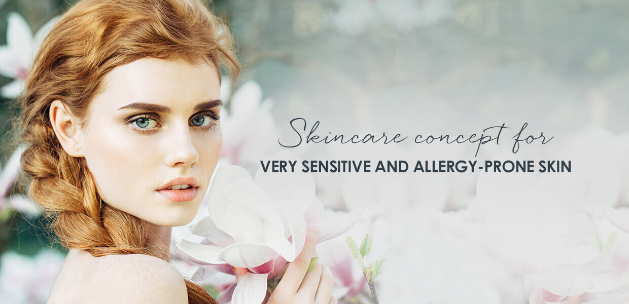 Face products for sensitive skin prone to allergies