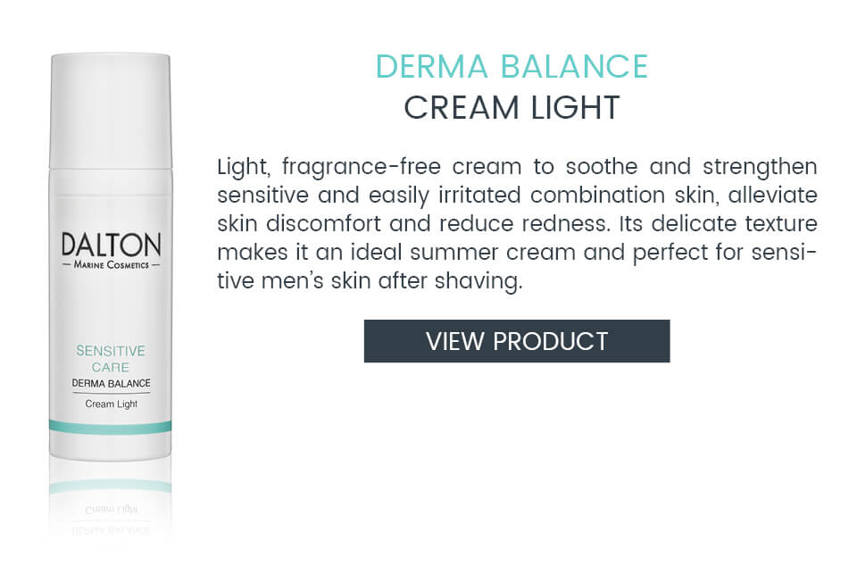 Light cream for sensitive skin