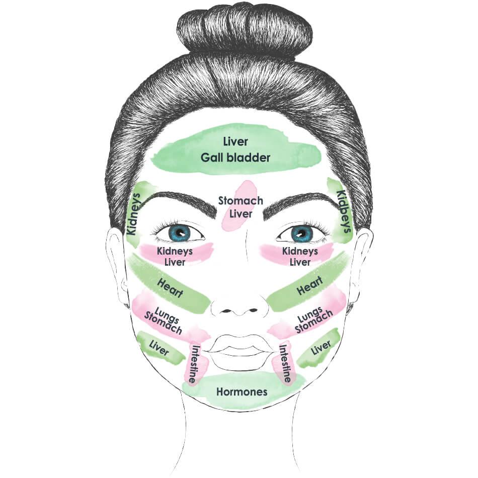 Face Mapping: Gründe für Pickel im Gesicht
