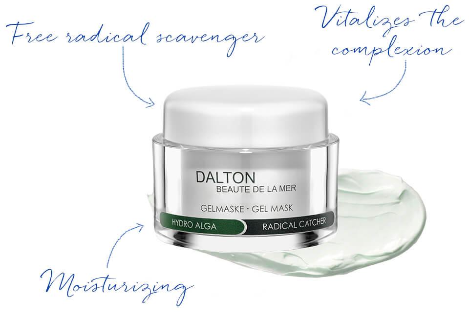 Cooling moisturizing gel mask