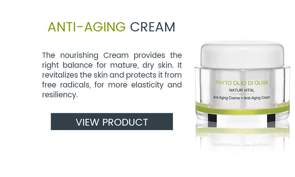 Vegetarian Anti-Aging Cream with olive oil