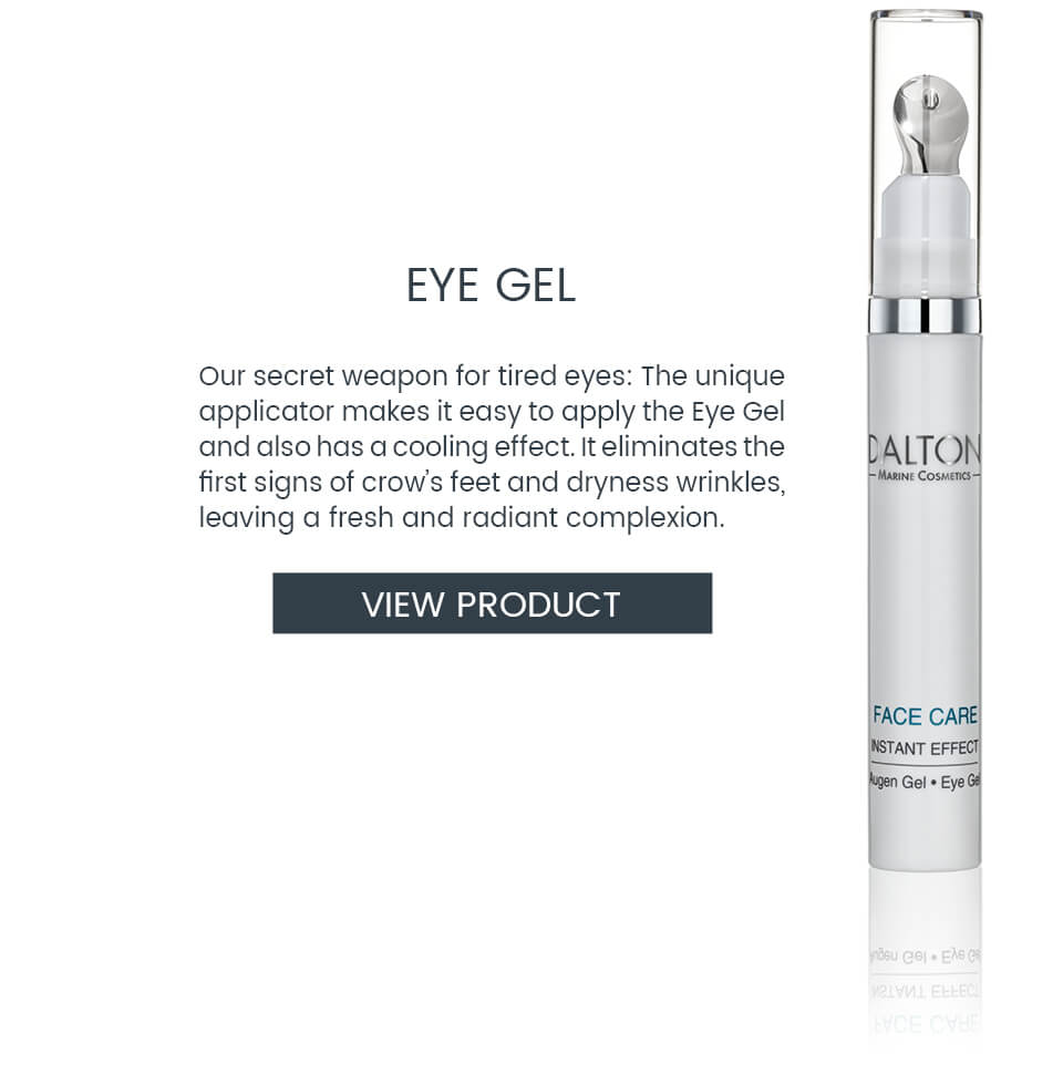Cooling eye gel to treat crow's feet and dryness wrinkles