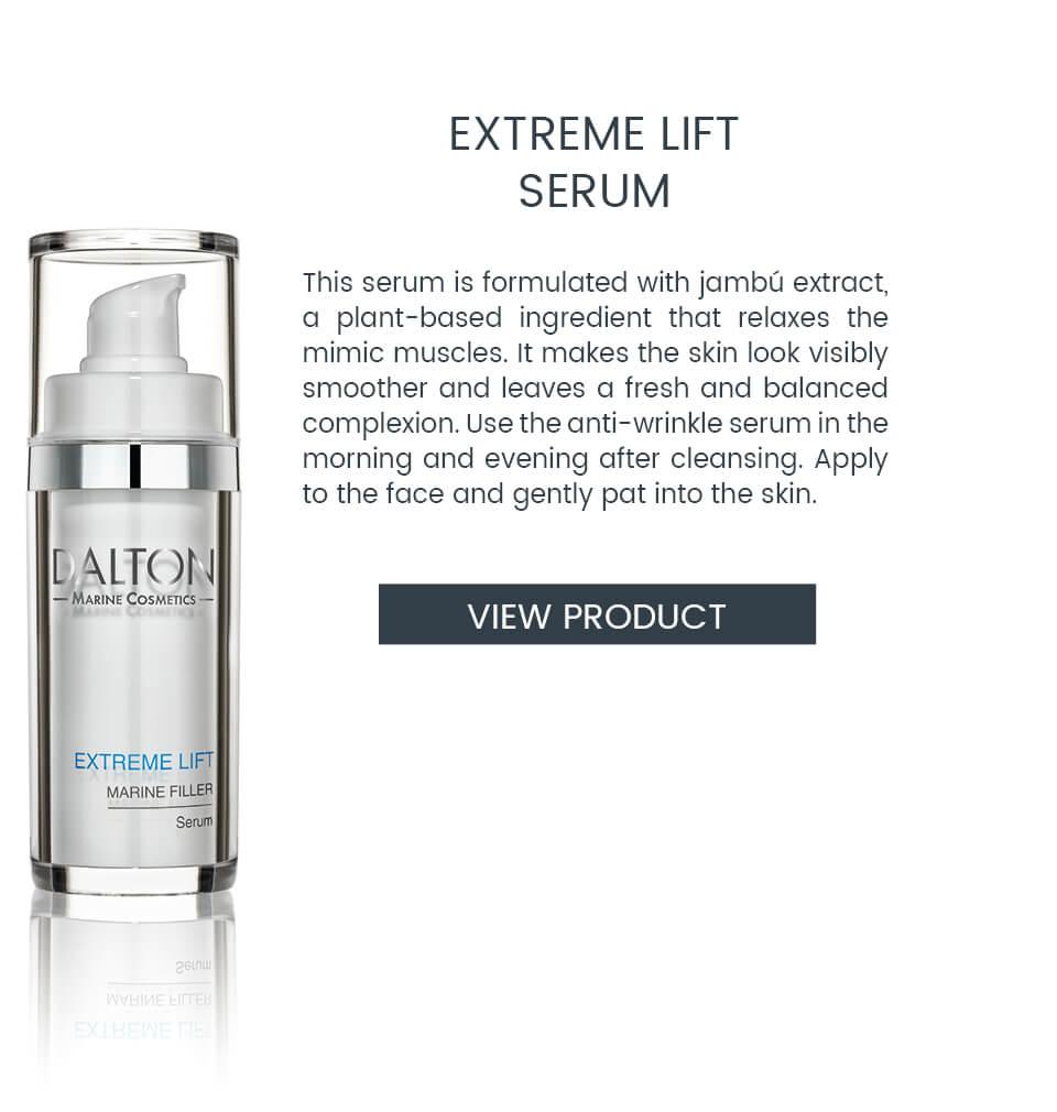 Anti-wrinkle serum with immediate lifting effect
