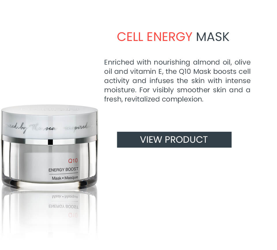 Nourishing mask with Q10 for dull skin