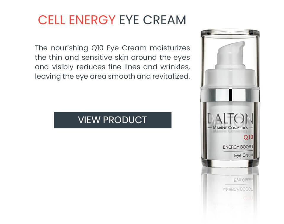 Nourishing Q10 anti-aging eye cream for dry skin