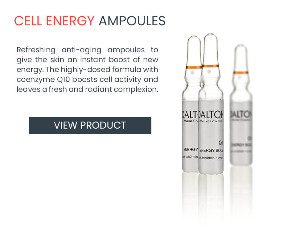 Anti-aging ampoules with coenzyme Q10