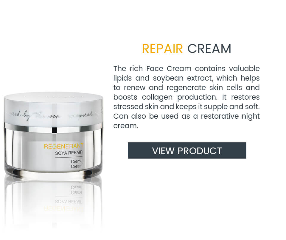 Face Cream with soybean extract for skin regeneration