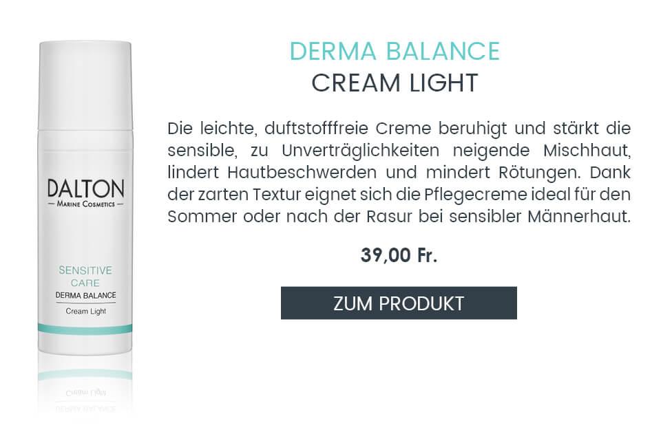 Zur leichten Gesichtspflege für empfindliche Haut