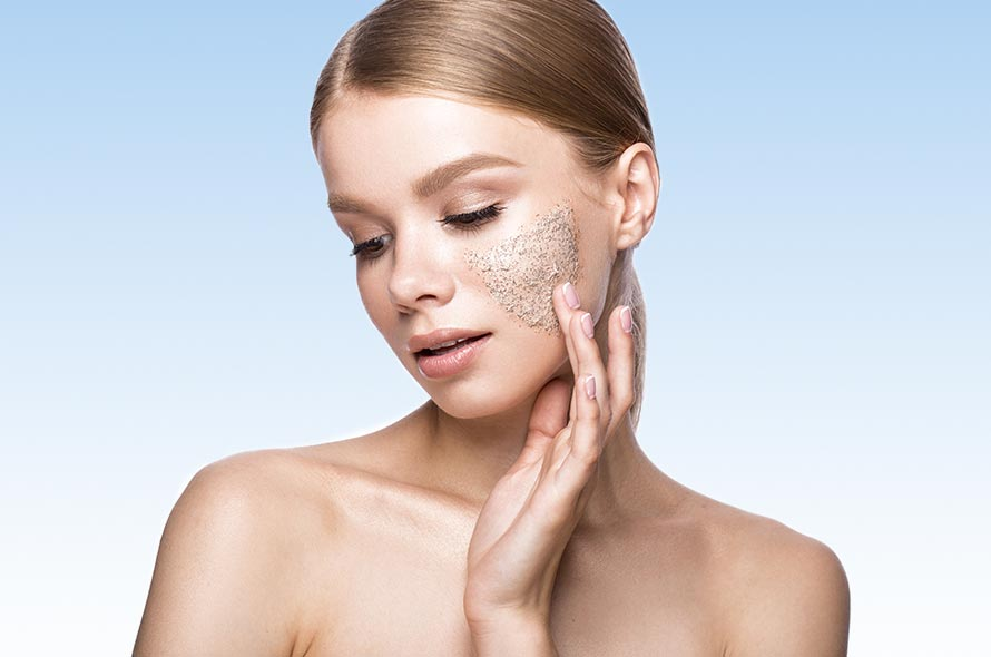 Wirkung von Peelings für die Haut