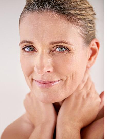 Fettarme Haut Gesichtspflege