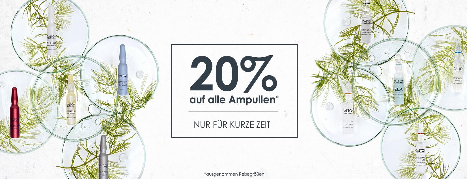 Jetzt 20% auf alle Ampullen sparen