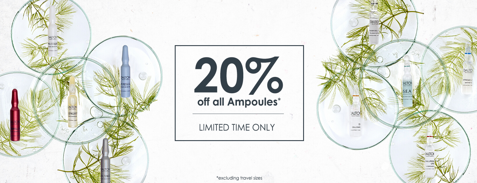 Save 20% on all ampoules