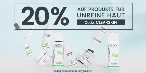 Rabattaktion – 20% auf Anti-Pickel Produkte
