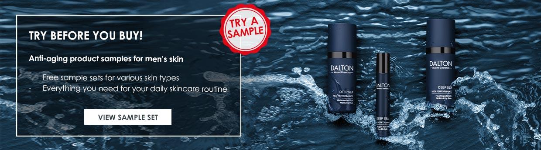 Deep Sea Anti-Aging Skincare samples for men