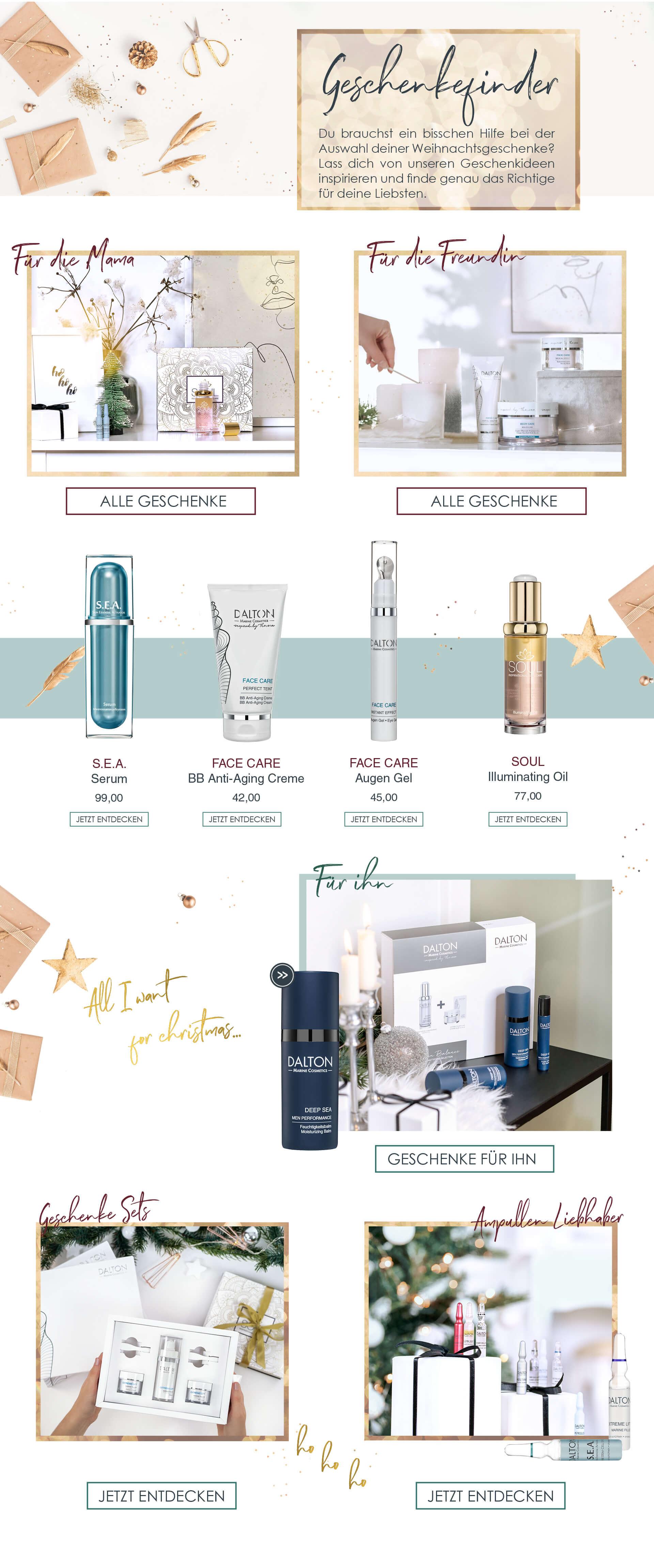 Geschenkefinder: Passende Kosmetikgeschenke finden