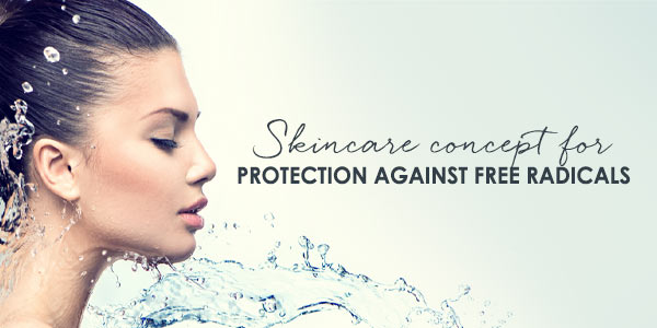 Skincare concept for protection against free radicals