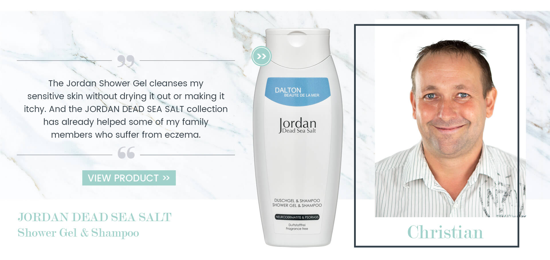 Dead Sea salt shower gel and shampoo fragrance-free