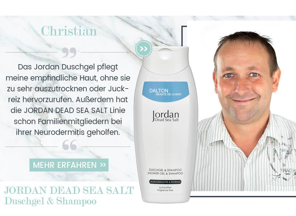 Totes Meer Salz Duschgel und Shampoo ohne Duft