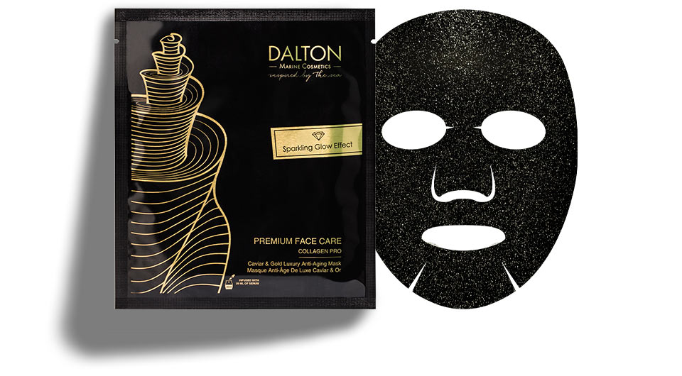 Anti-aging glow mask with real gold