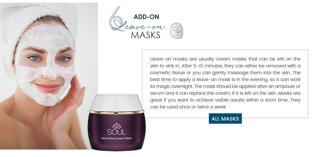 Dalton skincare routine Leave-On Masks